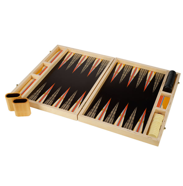 hitchcock yellow tabletop backgammon set