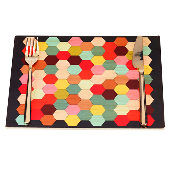 honeycomb placemats, set of two
