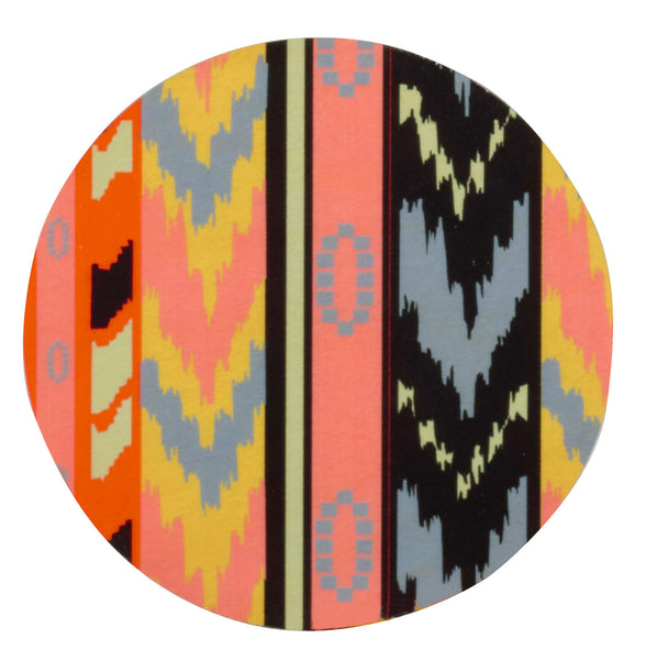 ikat coasters, set of four