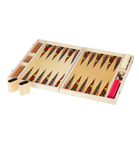 ikat tabletop backgammon set