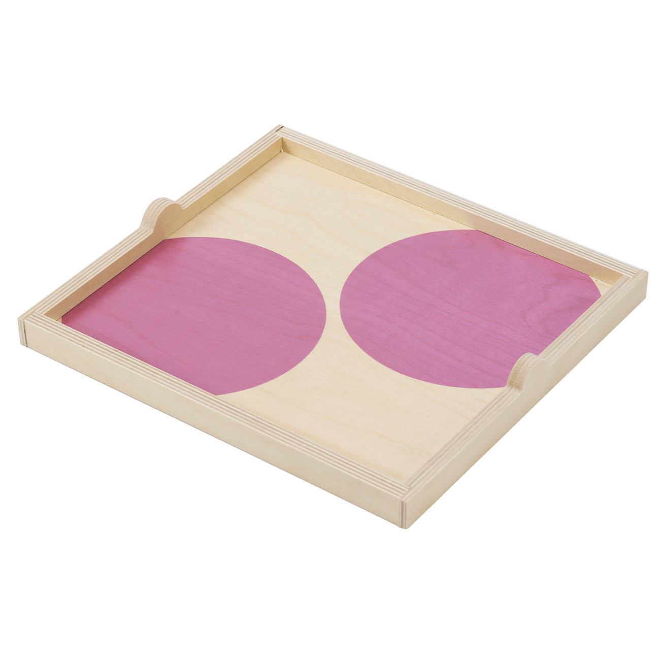 lavender dot square tray