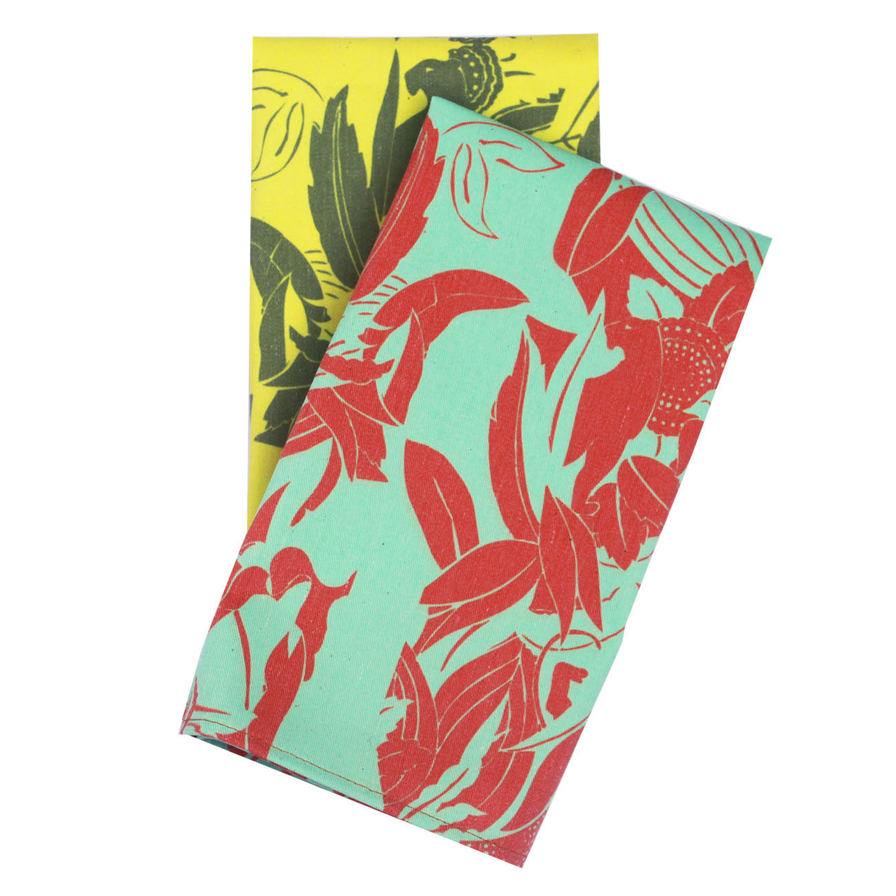 neon panther napkins, set of two