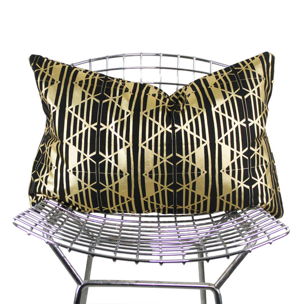 olga metallic rectangle pillow