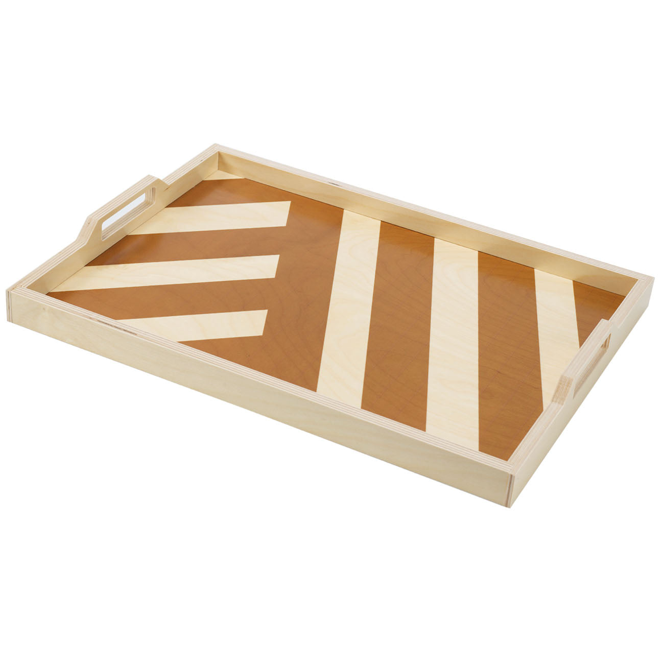 olive stripe serving tray