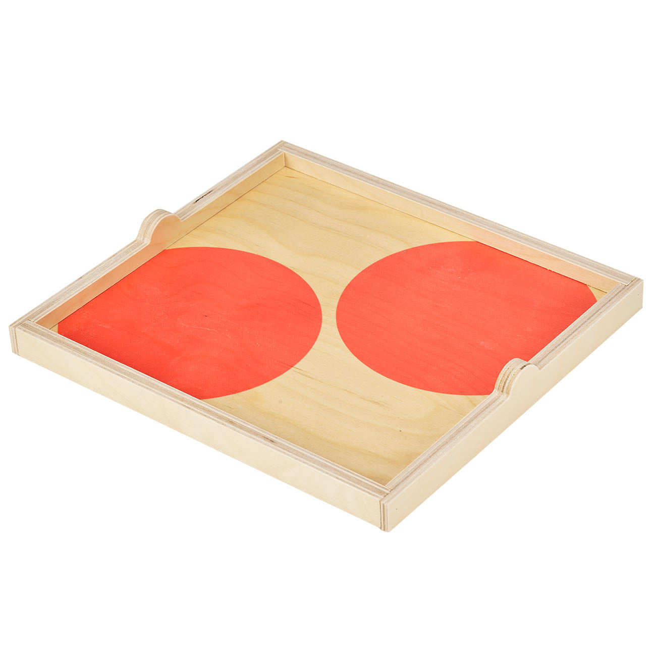 peach dot square tray - NEW for Spring 2019