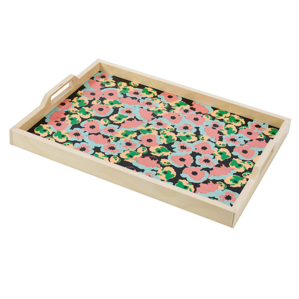 poppy black serving tray