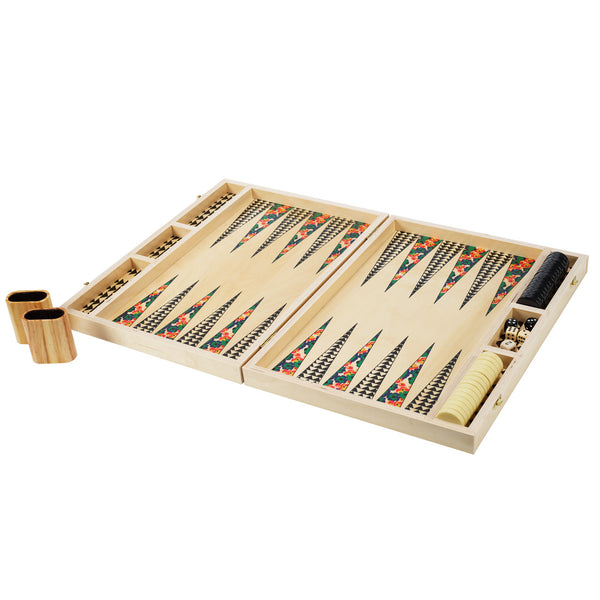 poppy green tabletop backgammon