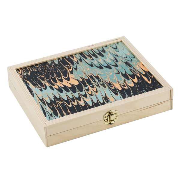 seafoam marble travel backgammon