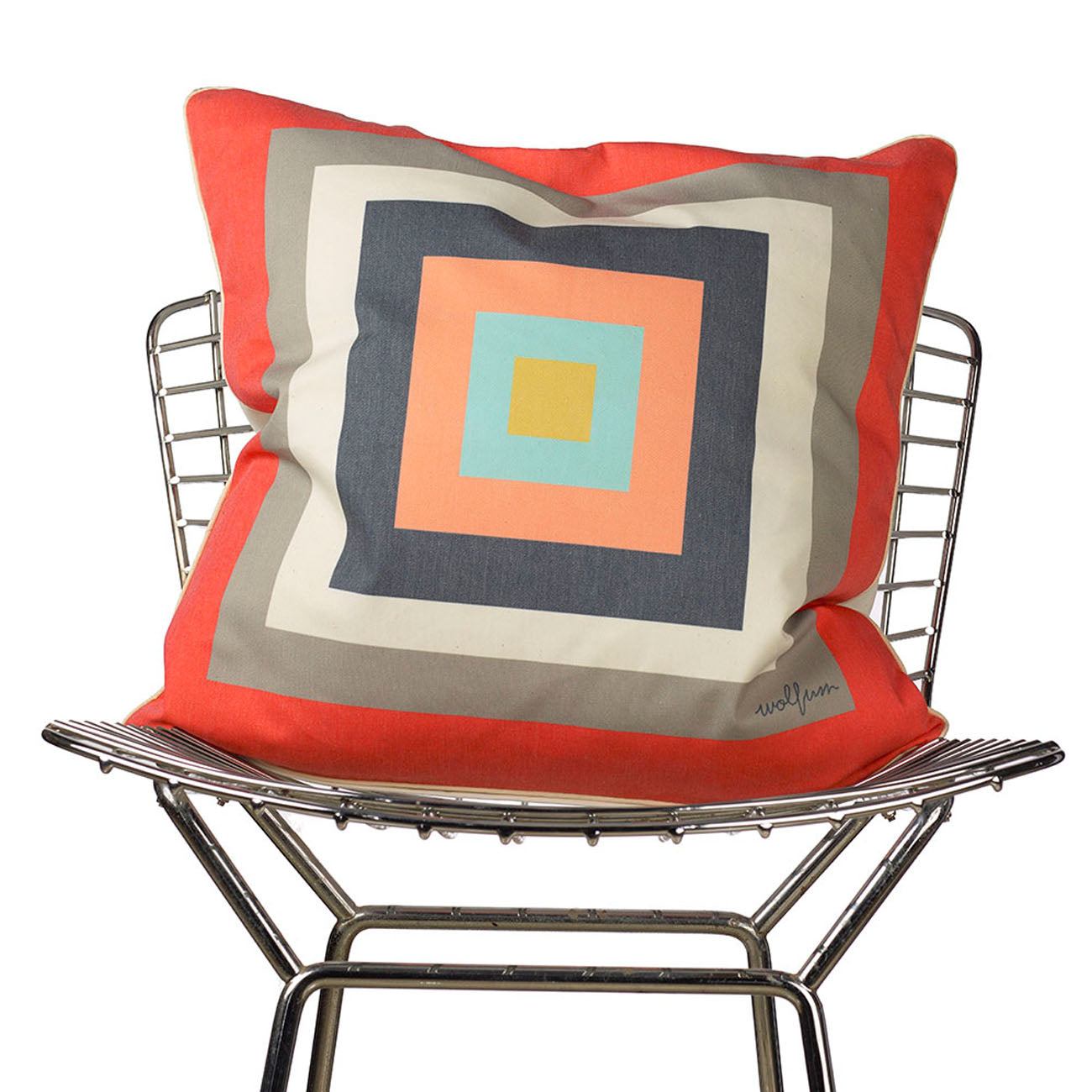 squaresville pillow