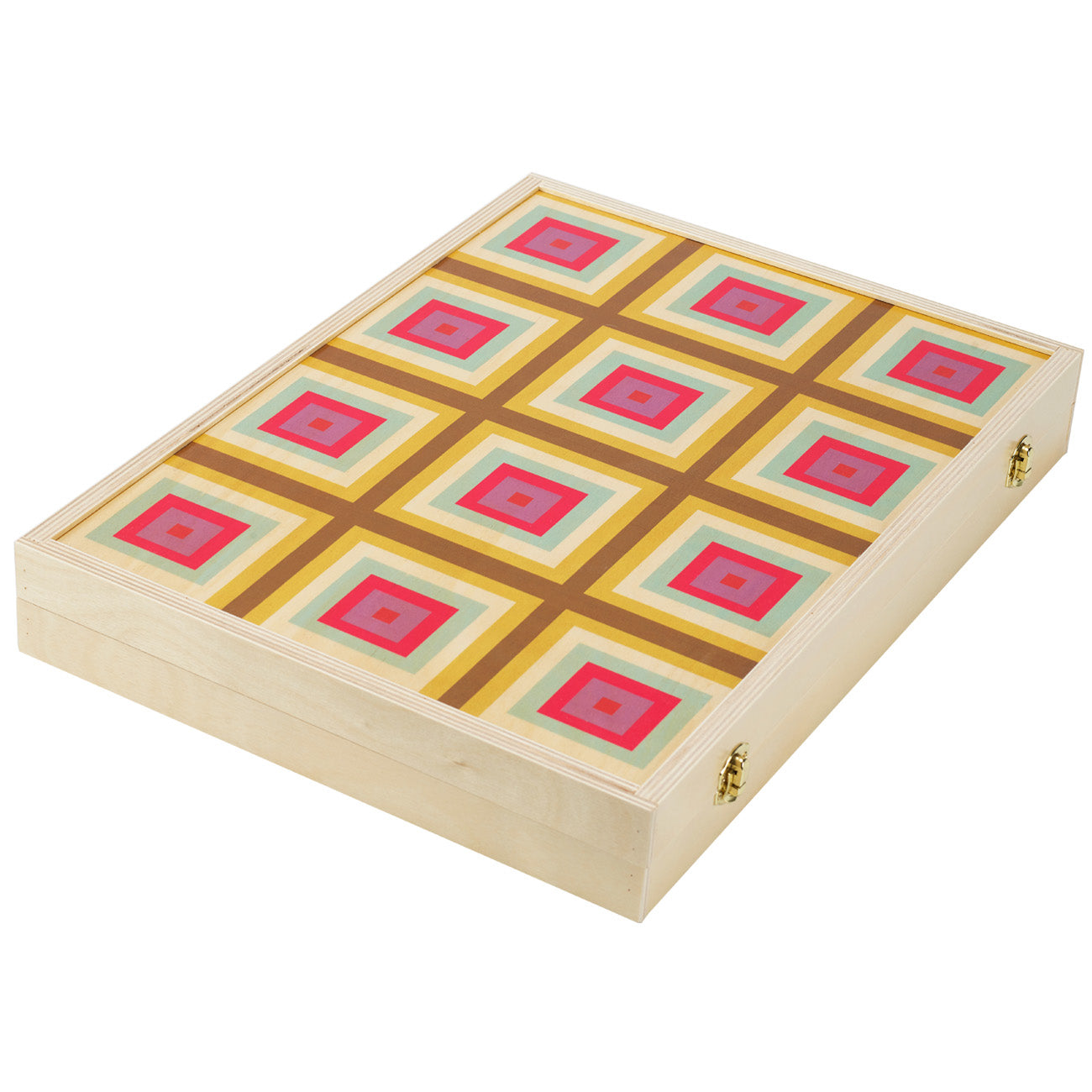 squaresville yellow tabletop backgammon