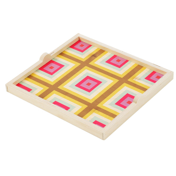 squaresville yellow square tray