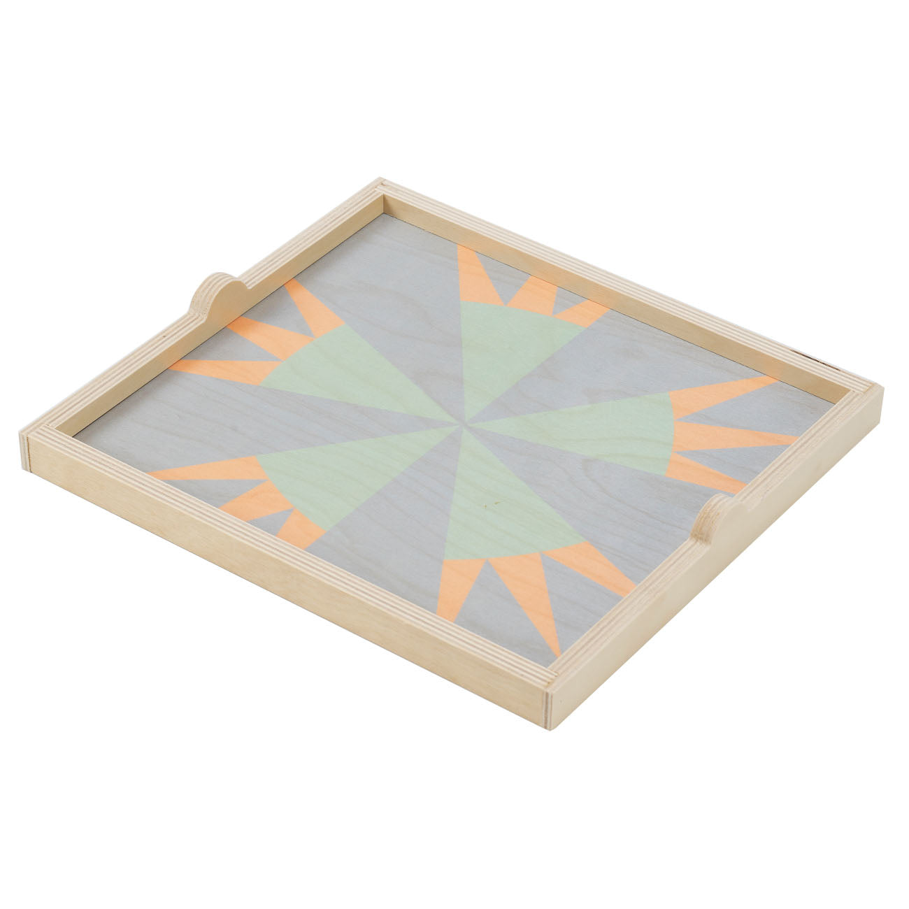 star pastel square tray