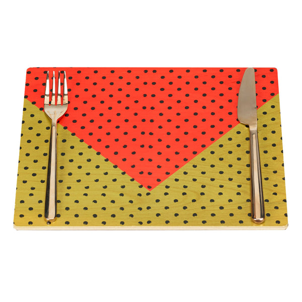 swiss dot placemats, set of two