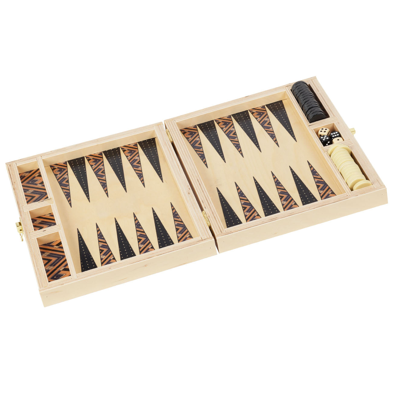 sybil tan backgammon set- NEW for Fall/Holiday 2018!