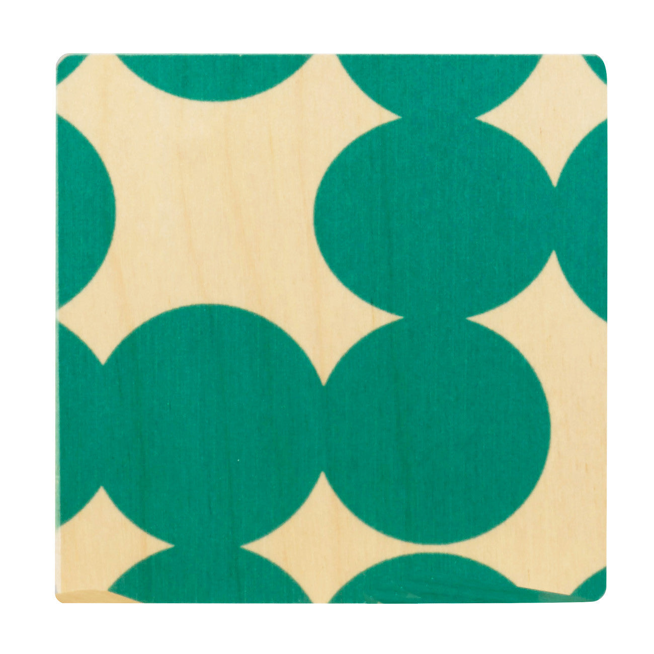 teal dot coasters, set of four