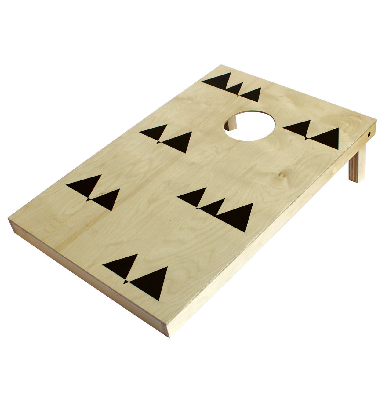 black triangle cornhole set