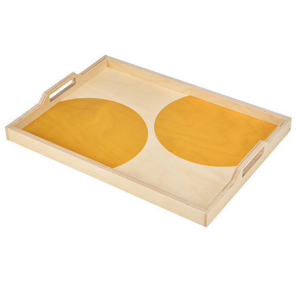 yellow dot serving tray