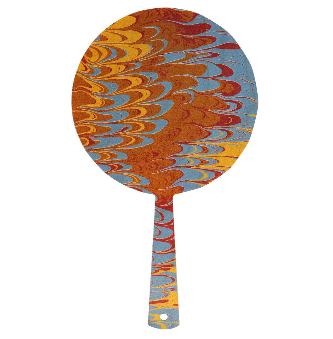 yellow marble hand mirror