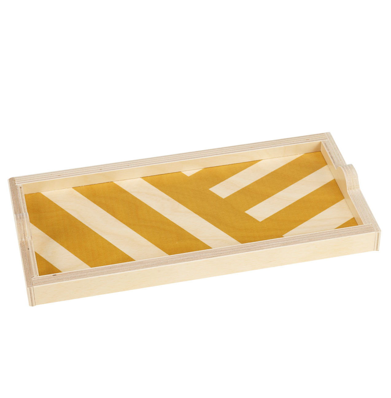 yellow stripe mini tray