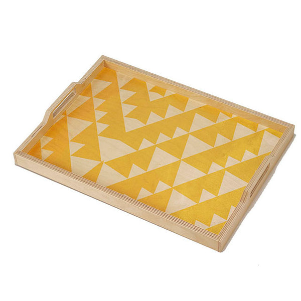yellow triangle tray