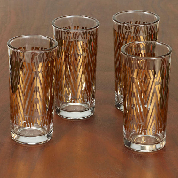zuzu metallic glasses, set of four