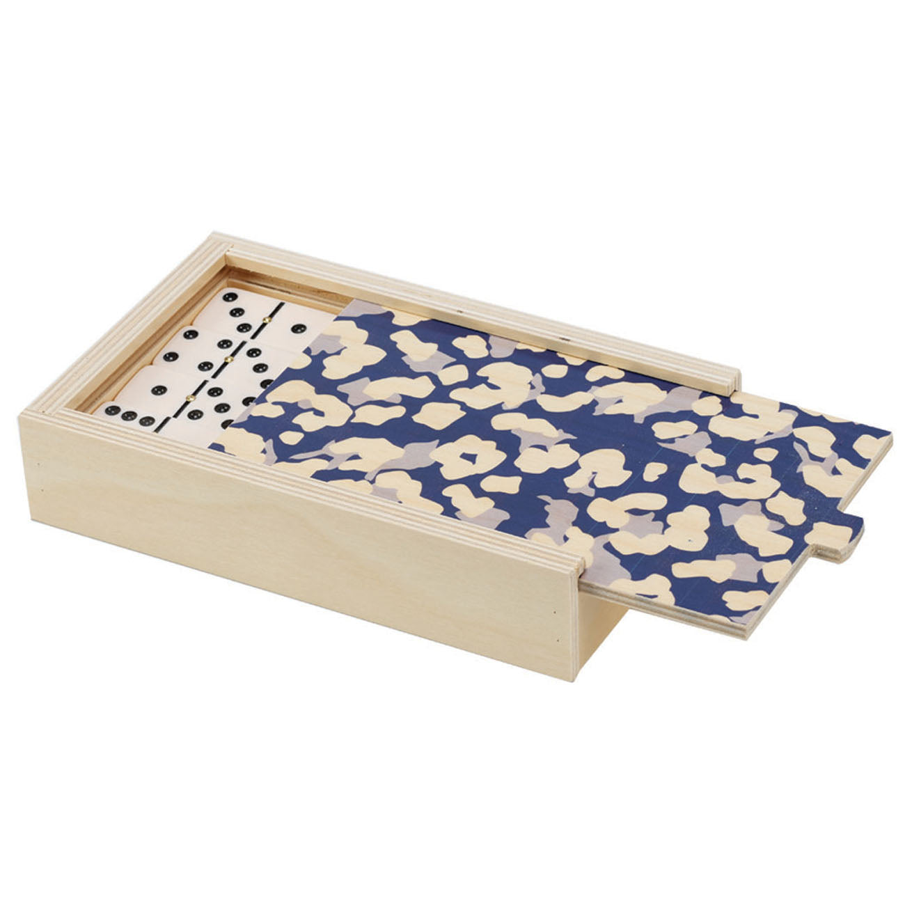 cheetah navy domino set