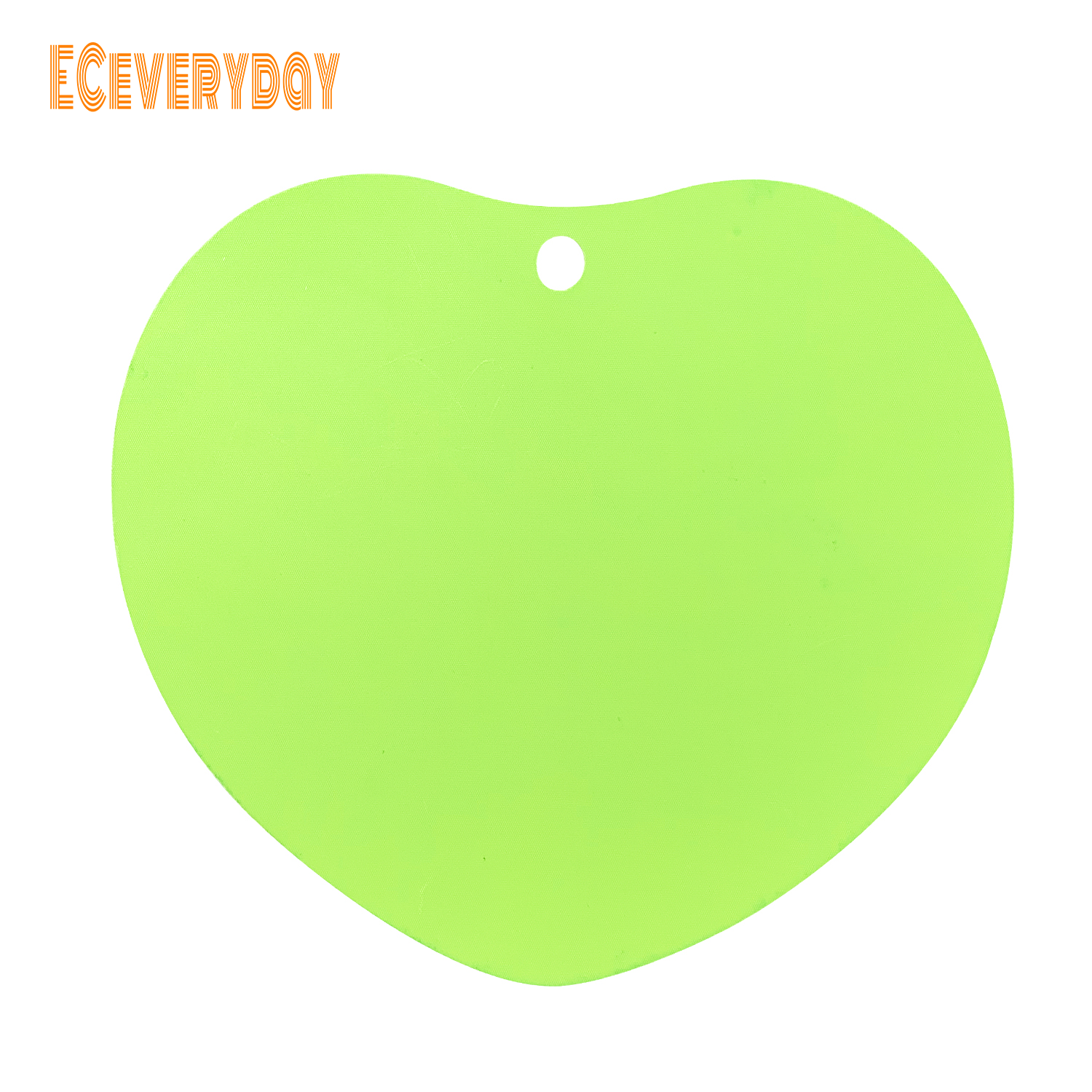 ECeveryday Portable Moisture-proof Picnic Fruit Salad Cutting Board (Green Heart Shaped)