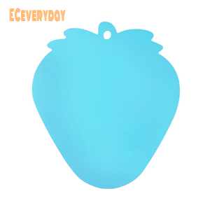 ECeveryday Portable Moisture-proof Picnic Fruit Salad Cutting Board (Blue Strawberry Shape)