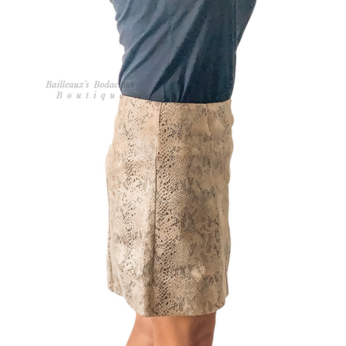 Snake skin mini skirt - Bailleaux's Bodacious Boutique