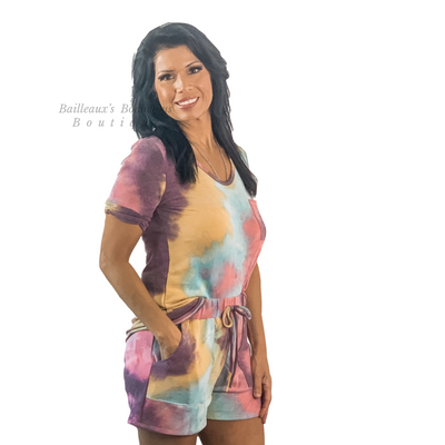 Multi color tie dye set - Bailleaux's Bodacious Boutique