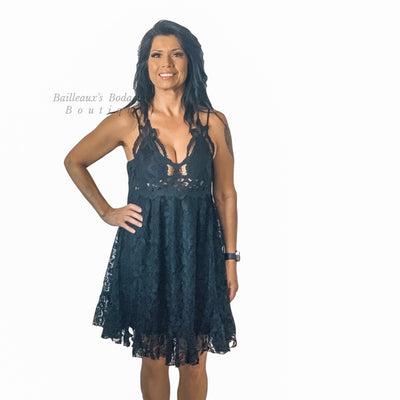 Lace Bralette Dress - Bailleaux's Bodacious Boutique