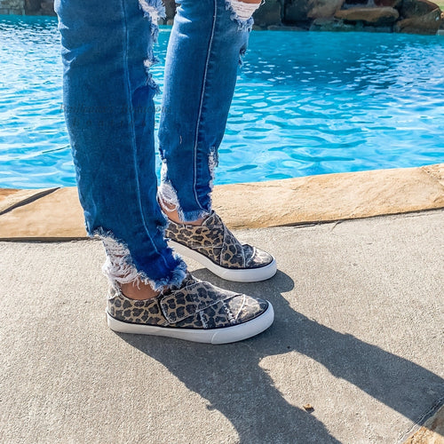 Leopard slip on sneakers - Bailleaux's Bodacious Boutique
