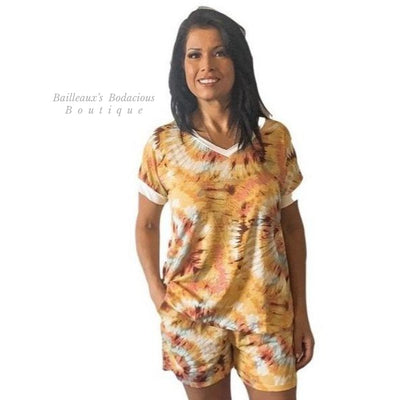 Floral mustard sage lounge color set - Bailleaux's Bodacious Boutique