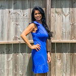 Royal blue dress - Bailleaux's Bodacious Boutique