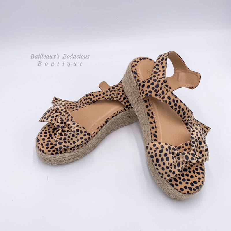 Cheetah wedge sandals - Bailleaux's Bodacious Boutique