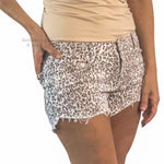 Leopard distressed shorts - Bailleaux's Bodacious Boutique