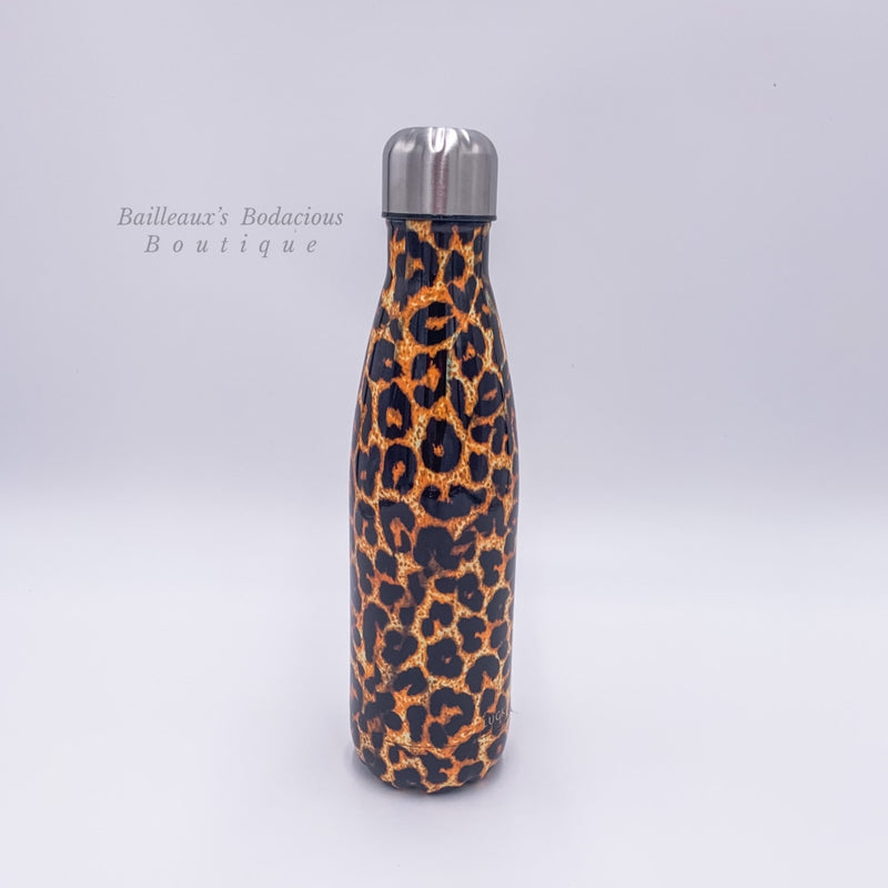 Leopard 17 ounce water bottles-cups - Bailleaux's Bodacious Boutique