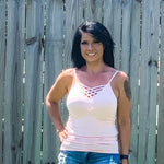 Dusty pink cami with adjustable straps - Bailleaux's Bodacious Boutique