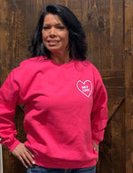 Self Love pink sweatshirt - Bailleaux's Bodacious Boutique