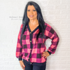 Neon Pink and black checkered top - Bailleaux's Bodacious Boutique