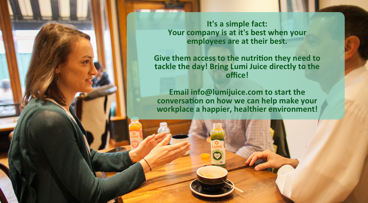 Lumi Organic Juice for Workplace