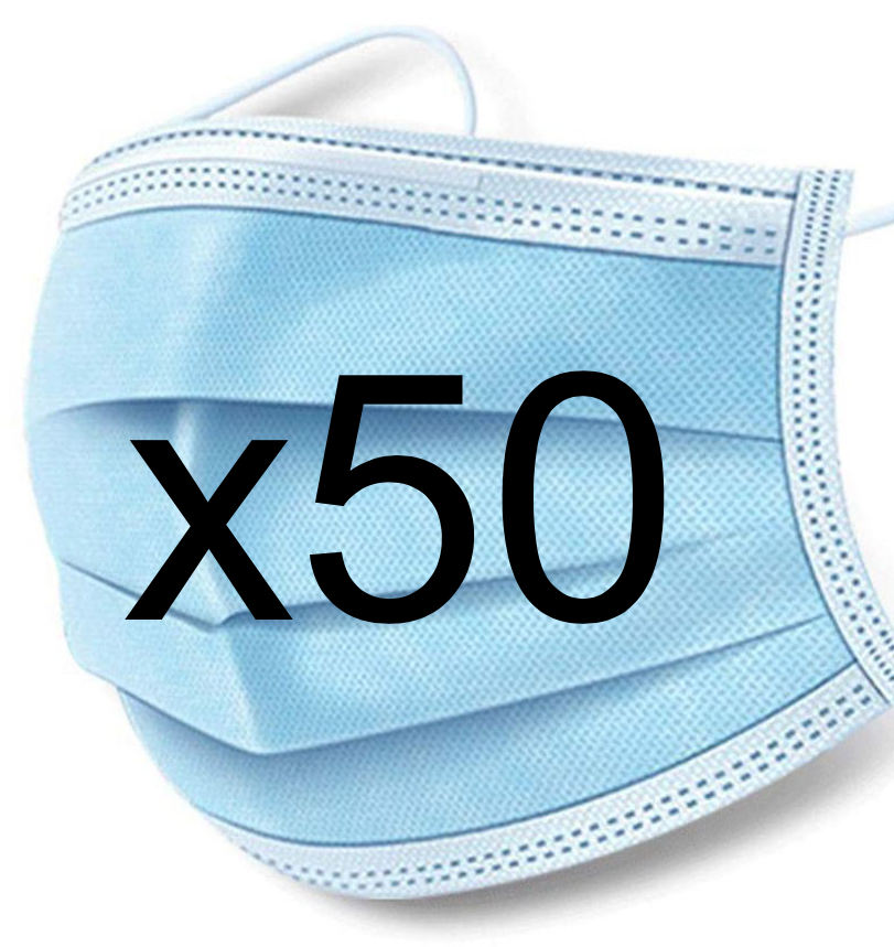 50ct Box - Surgical Masks - FDA registered & Nelson lab tested - FREE SHIPPING!