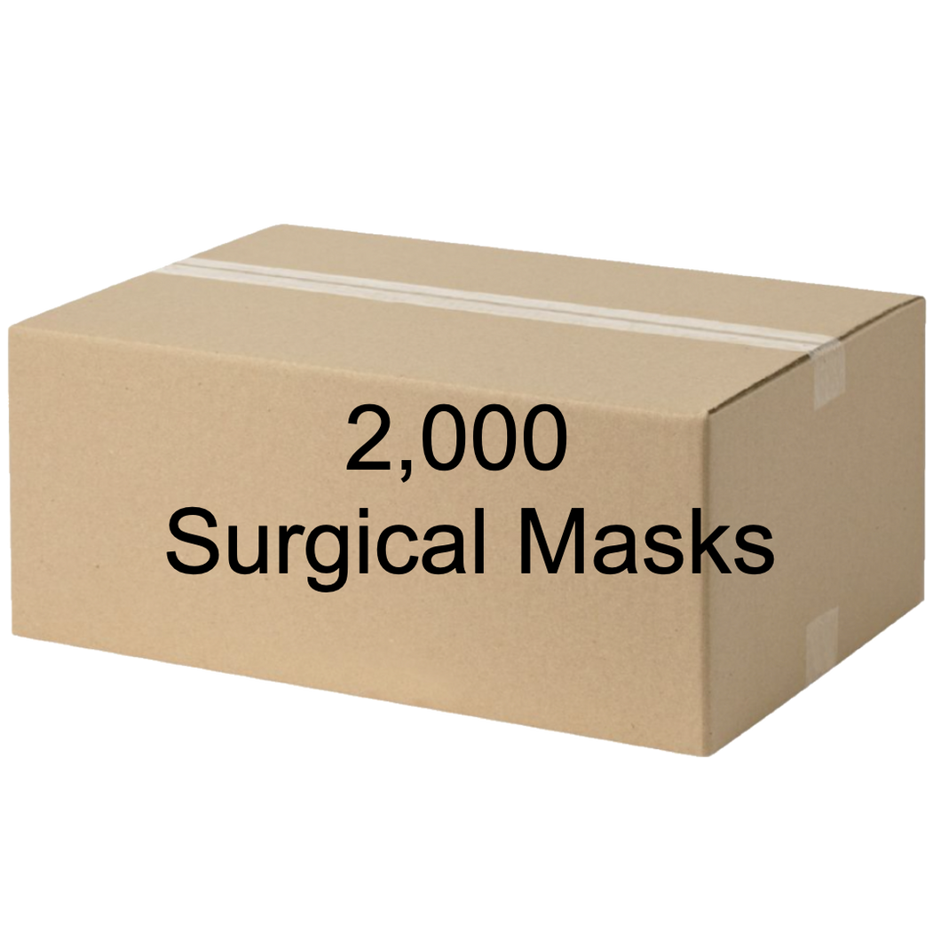 Surgical masks - 2,000ct carton - FDA registered & Nelson lab tested