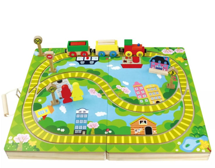Wooden Train Set 16 Pieces