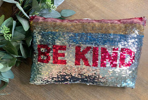 Be Kind Sequin Pillow