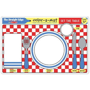 Color-A-Mat Set the Table
