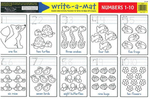 Write-A-Mat Numbers 1-10