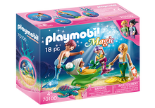 Load image into Gallery viewer, Playmobil Mermaid Family with Shell Stroller