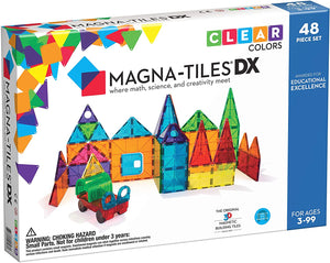 Magna Tiles Deluxe DX - 48 Piece Magnetic Building