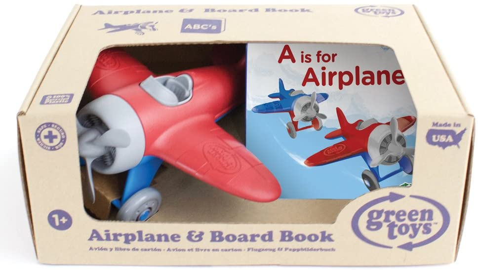 GreenToys Airplane and Board Book